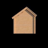 DWF Blokhut met overkapping Kapschuur dak 200 x 250 + 300cm