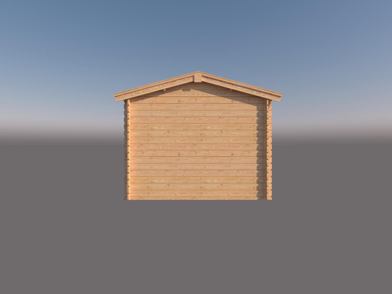 DWF Blokhut met overkapping zadeldak 200 x 300 + 250cm
