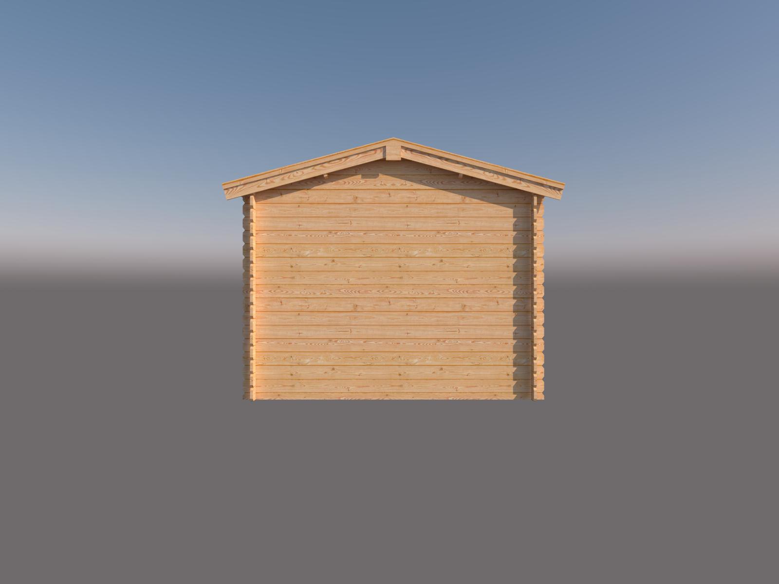 DWF Blokhut met overkapping zadeldak 200 x 300 + 300cm