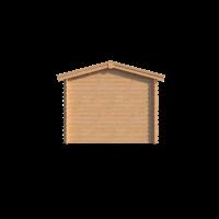 DWF Blokhut met overkapping zadeldak 200 x 300 + 350cm