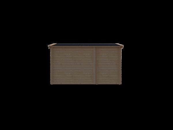 DWF Blokhut met overkapping zadeldak 150 x 200 + 250cm