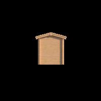 DWF Blokhut met overkapping zadeldak 200 x 200 + 250cm