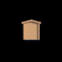DWF Blokhut met overkapping zadeldak 250 x 200 + 250cm
