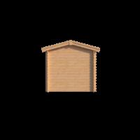 DWF Blokhut met overkapping zadeldak 200 x 200 + 350cm