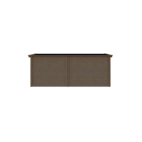DWF Blokhut met overkapping zadeldak 300 x 200 + 250cm