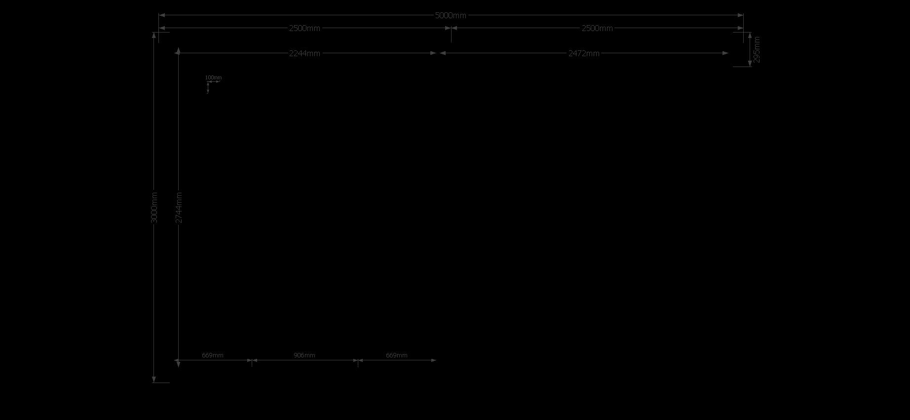 DWF Blokhut met overkapping zadeldak 250 x 300 + 250cm