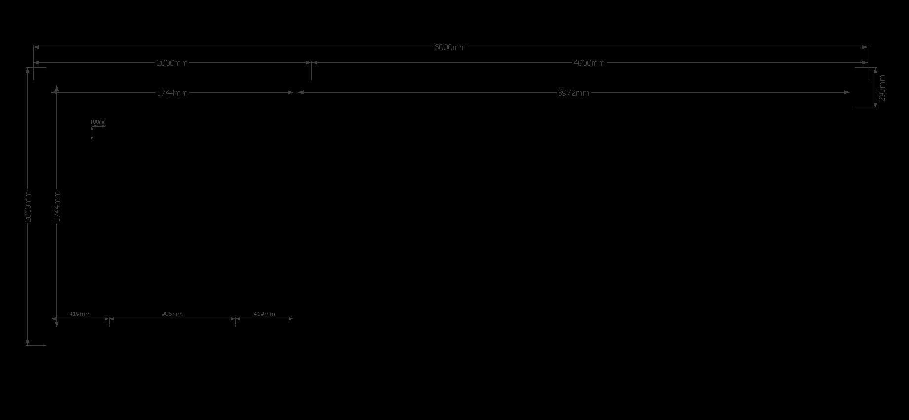 DWF Blokhut met overkapping zadeldak 200 x 200 + 400cm
