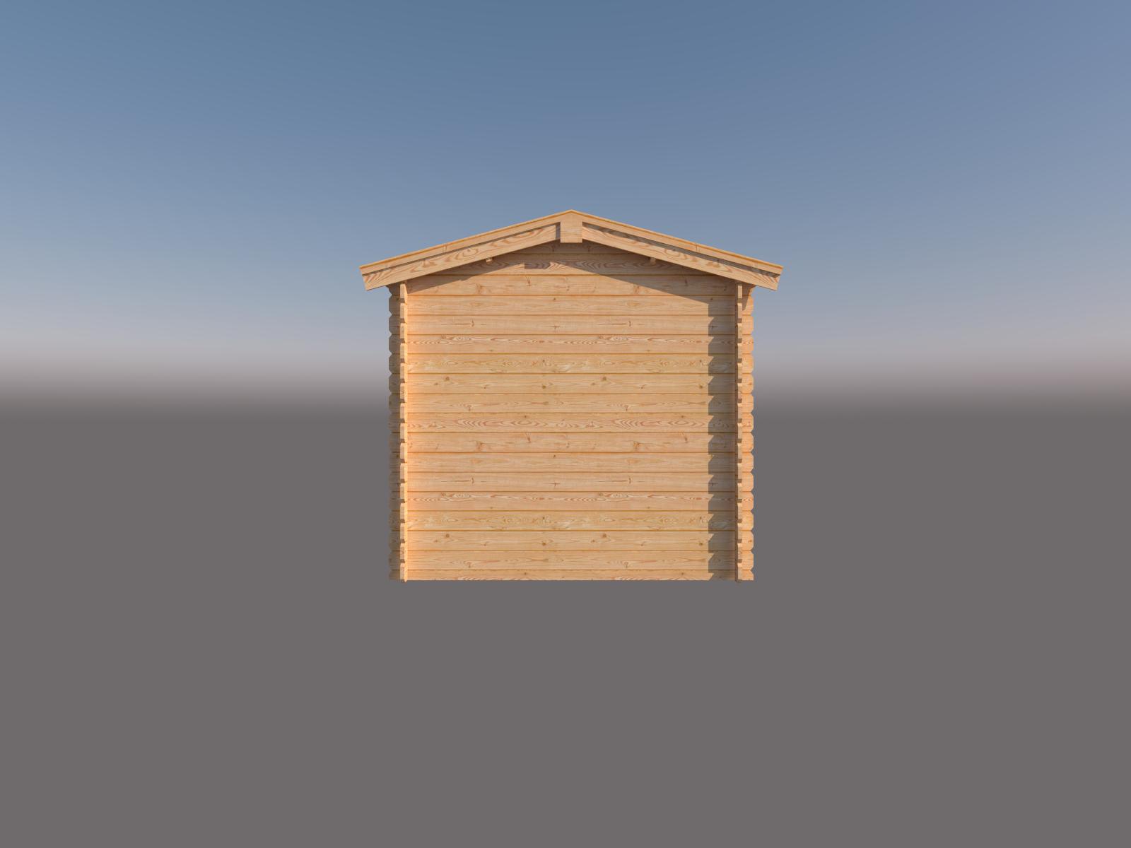 DWF Blokhut met overkapping zadeldak 200 x 250 + 300cm