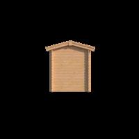 DWF Blokhut met overkapping zadeldak 300 x 200 + 300cm