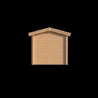 DWF Blokhut met overkapping zadeldak 200 x 250 + 400cm