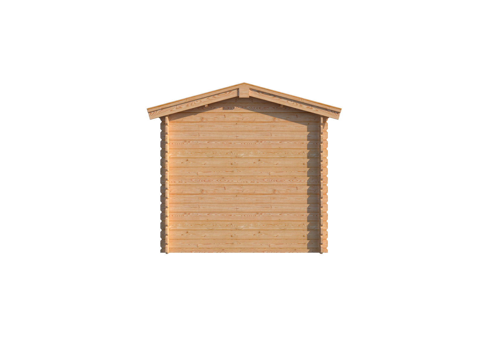 DWF Blokhut met overkapping zadeldak 250 x 250 + 300cm