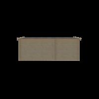 DWF Blokhut met overkapping zadeldak 250 x 250 + 350cm