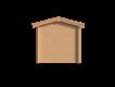 DWF Blokhut met overkapping zadeldak 400 x 250 + 250cm