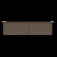 DWF Blokhut met overkapping zadeldak 400 x 250 + 400cm