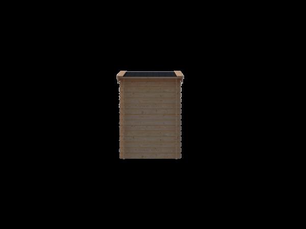DWF Blokhut zadeldak 150 x 150cm