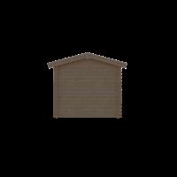 DWF Blokhut zadeldak 250 x 250cm