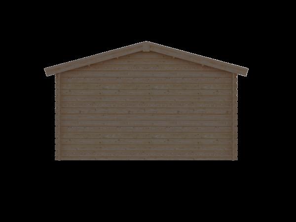 DWF Blokhut zadeldak 400 x 250cm