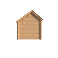 DWF Blokhut met overkapping Kapschuur dak 300 x 250 + 350cm