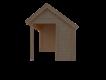 DWF Blokhut met overkapping Kapschuur dak 400 x 250 + 350cm