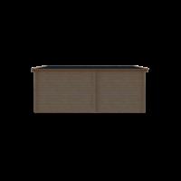 DWF Blokhut met overkapping zadeldak 250 x 300 + 300cm