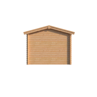 DWF Blokhut met overkapping zadeldak 250 x 300 + 400cm