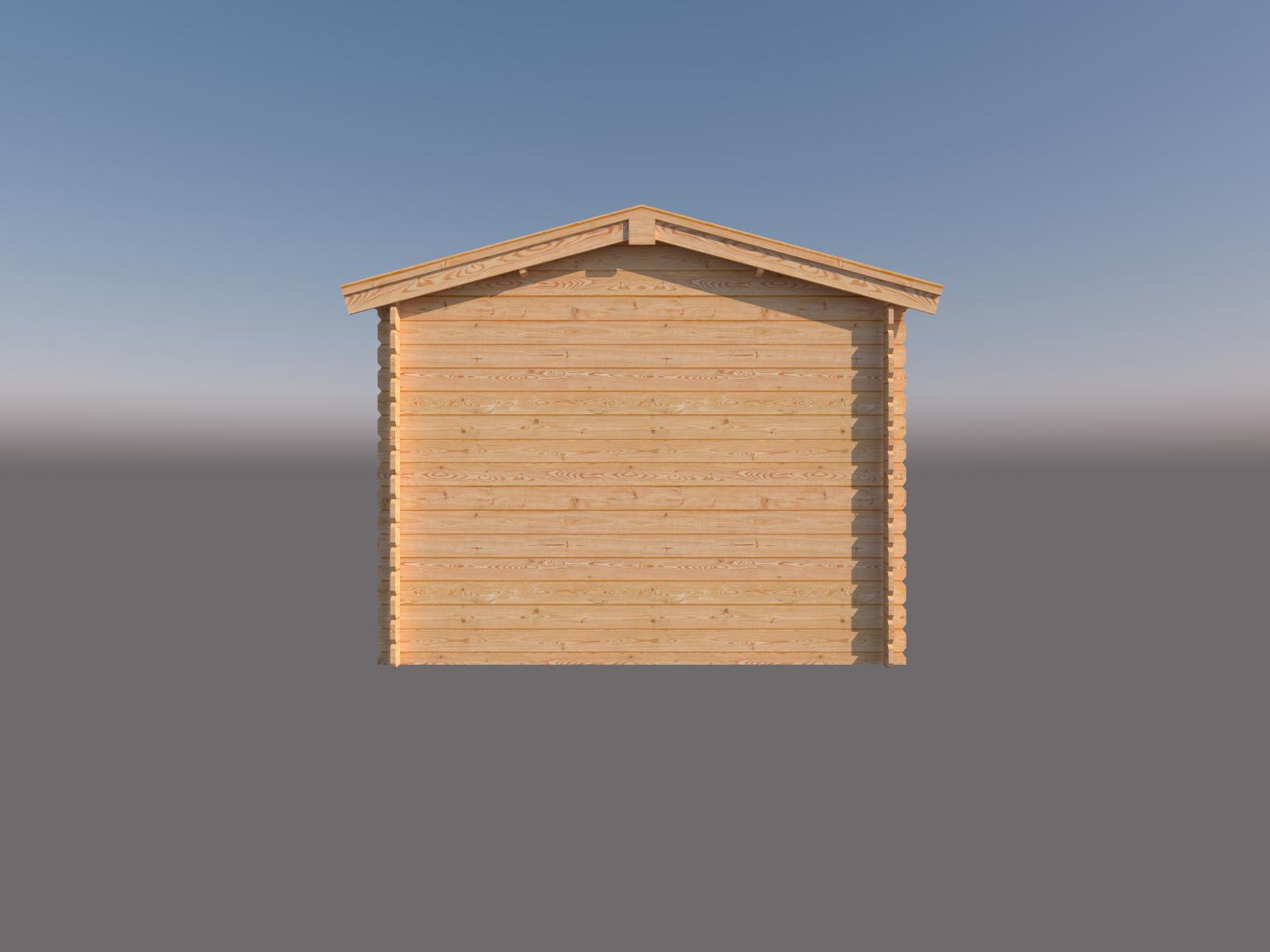 DWF Blokhut met overkapping zadeldak 300 x 300 + 250cm