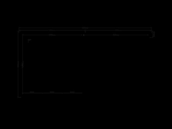 DWF Blokhut met overkapping zadeldak 300 x 300 + 300cm