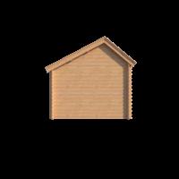 DWF Blokhut met overkapping Kapschuur dak 150 x 300 + 400cm