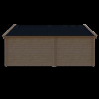 DWF Blokhut met overkapping Kapschuur dak 250 x 300 + 300cm