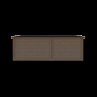 DWF Blokhut met overkapping zadeldak 300 x 300 + 350cm