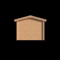 DWF Blokhut met overkapping zadeldak 400 x 300 + 250cm