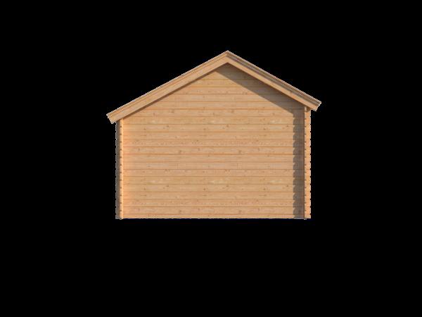 DWF Blokhut met overkapping Kapschuur dak 150 x 350 + 250cm