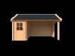 DWF Blokhut met overkapping Kapschuur dak 150 x 350 + 350cm
