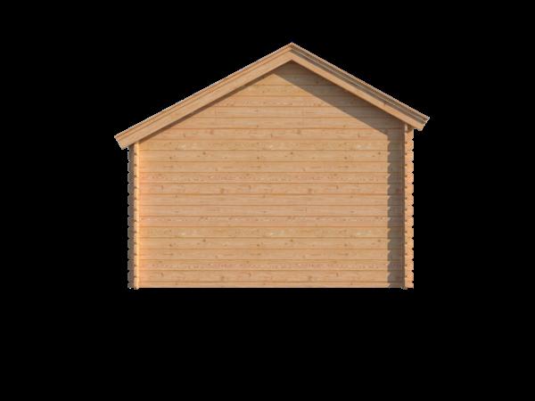 DWF Blokhut met overkapping Kapschuur dak 150 x 350 + 400cm
