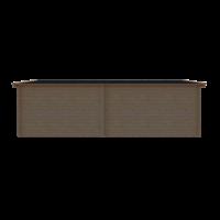 DWF Blokhut met overkapping zadeldak 400 x 300 + 350cm