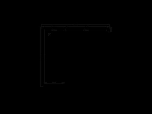 DWF Blokhut met overkapping zadeldak 150 x 350 + 250cm