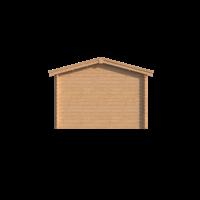 DWF Blokhut met overkapping zadeldak 150 x 350 + 350cm