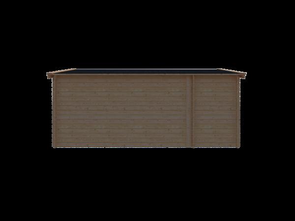 DWF Blokhut met overkapping zadeldak 150 x 350 +400cm