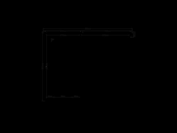 DWF Blokhut met overkapping zadeldak 200 x 350 + 250cm