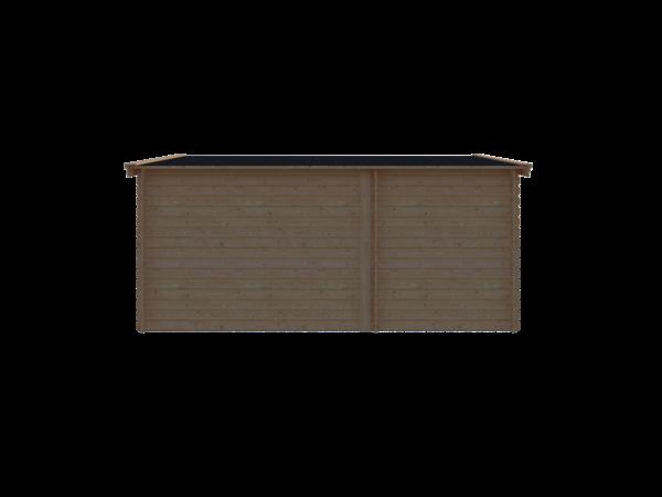 DWF Blokhut met overkapping zadeldak 200 x 350 + 300cm