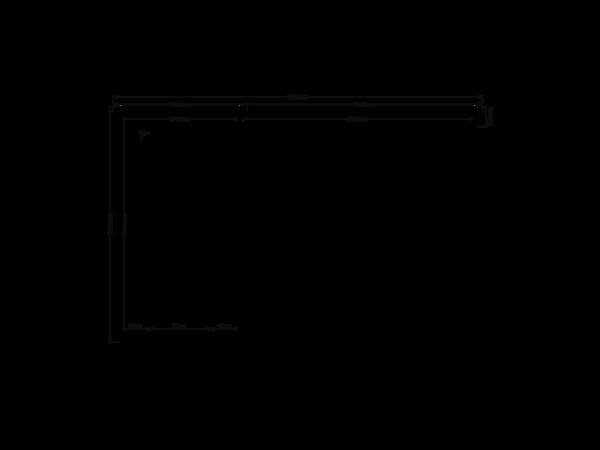 DWF Blokhut met overkapping zadeldak 200 x 350 + 350cm
