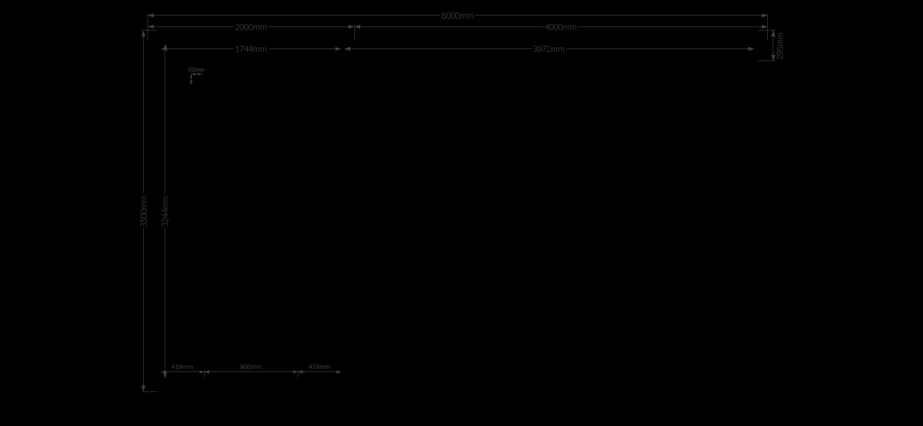 DWF Blokhut met overkapping zadeldak 200 x 350 + 400cm
