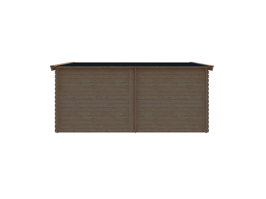 DWF Blokhut met overkapping zadeldak 250x 350 + 250cm