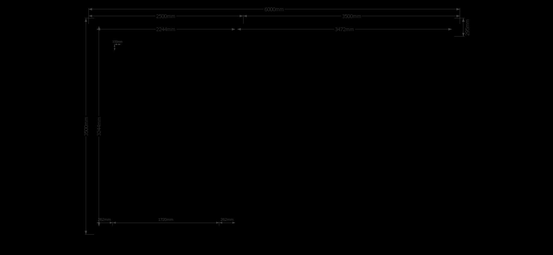 DWF Blokhut met overkapping zadeldak 250x 350 + 350cm