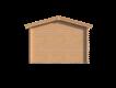 DWF Blokhut met overkapping zadeldak 300 x 350 + 300cm