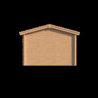 DWF Blokhut met overkapping zadeldak 300 x 350 + 350cm