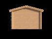 DWF Blokhut met overkapping zadeldak 300 x 350 + 400cm