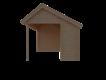 DWF Blokhut met overkapping Kapschuur dak 400 x 300 + 350cm