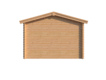 DWF Blokhut met overkapping zadeldak 350 x 350 + 350cm