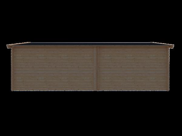 DWF Blokhut met overkapping zadeldak 350 x 350 + 400cm